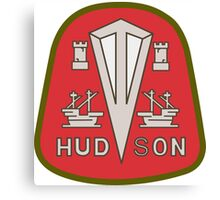Hudson classic automobiles red logo remake Canvas Print
