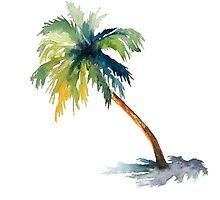 Watercolor palm tree by shannonfraney