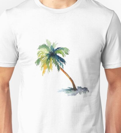 Watercolor palm tree Unisex T-Shirt