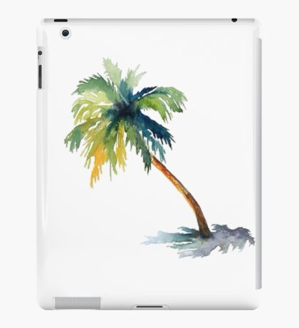 Watercolor palm tree iPad Case/Skin