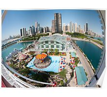 Chicago Skyline from the Navy Pier Ferris Wheel Poster