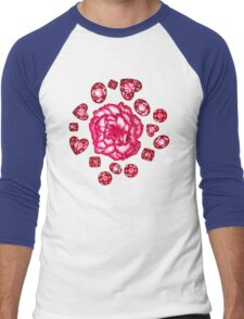 Garnets & Carnations  Men's Baseball ¾ T-Shirt