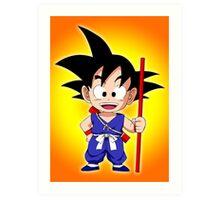 Goku Kid Art Print