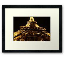Eiffel Tower @ Night Framed Print