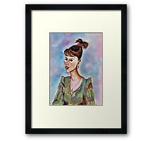 Portrait of a Young Businesswoman Framed Print