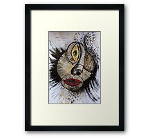 Barbarism (5) - Cyclops lady Framed Print