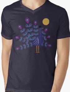 Gemmy Peacock Mens V-Neck T-Shirt