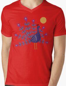 Gemmy Peacock Mens V-Neck T-Shirt