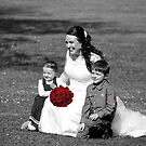 Bride and Children by Paul Campbell  Photography