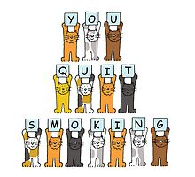 You quit smoking cats. by KateTaylor