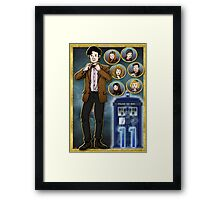 Madman with a Blue Box Framed Print