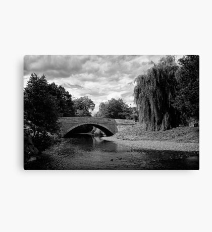 Sinnington Bridge in monochrome Canvas Print