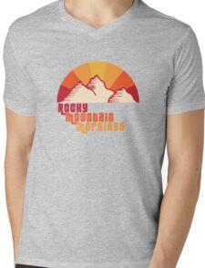 Rocky Mountain Mornings Mens V-Neck T-Shirt