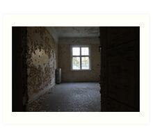Abandoned asylum. Old Lier Mental Hospital, Norway. Built 1921, closed 1985.  Art Print