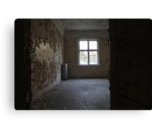 Abandoned asylum. Old Lier Mental Hospital, Norway. Built 1921, closed 1985.  Canvas Print