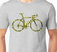 Bike Stripes Zebra (Black & Yellow) Unisex T-Shirt