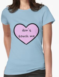 Sassy Heart–don't touch me–Mauve Womens Fitted T-Shirt