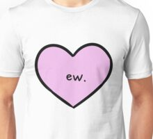 Sassy Heart–ew.–Mauve Unisex T-Shirt