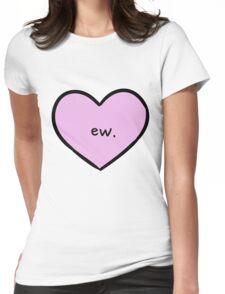 Sassy Heart–ew.–Mauve Womens Fitted T-Shirt