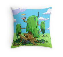 treehouse adventure time  Throw Pillow