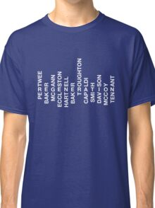 Regeneration 12 Doctors Wordsearch 1 Classic T-Shirt