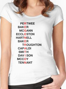 Regeneration 12 Doctors Wordsearch 3 Women's Fitted Scoop T-Shirt