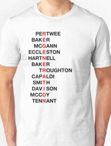 Regeneration 12 Doctors Wordsearch 3 Unisex T-Shirt