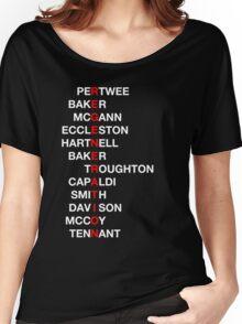 Regeneration 12 Doctors Wordsearch 4 Women's Relaxed Fit T-Shirt
