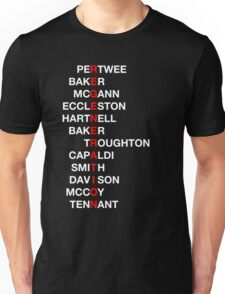 Regeneration 12 Doctors Wordsearch 4 Unisex T-Shirt