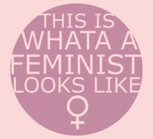 This Is What A Feminist Looks Like (pink) Kids Clothes