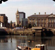 Aliens invade Belfast Sticker