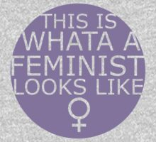 This Is What A Feminist Looks Like (purple) Kids Clothes