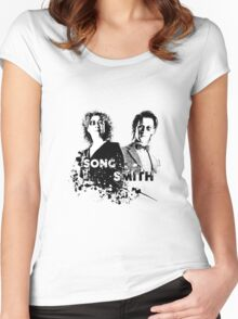 The Doctor & River Song  Women's Fitted Scoop T-Shirt