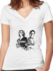 The Doctor & River Song  Women's Fitted V-Neck T-Shirt