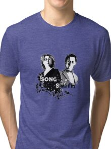 The Doctor & River Song  Tri-blend T-Shirt
