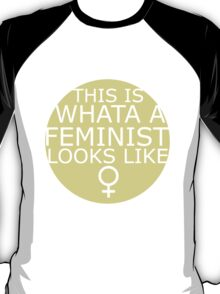 This Is What A Feminist Looks Like (yellow) T-Shirt
