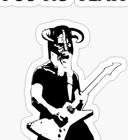 James hetfield fus ro  Sticker