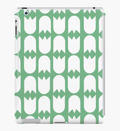 Tulip pattern green iPad case iPad Case/Skin