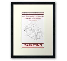 PRACTICAL SCIENCE FOR BEGINNERS: MARKETING Framed Print
