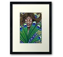 The Peacock Nymph Framed Print