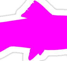 Pink Trout Silhouette Sticker