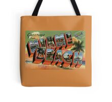Fifties style Greetings from Miami Beach Tote Bag
