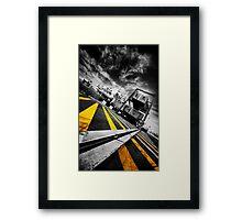 Calais Car Ferry Port Framed Print