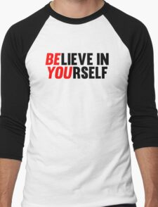 Believe in Yourself Men's Baseball ¾ T-Shirt