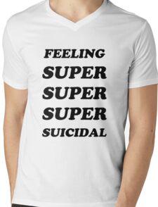 FEELING SUPER SUICIDAL Mens V-Neck T-Shirt