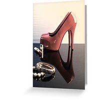 Pink Heels Greeting Card
