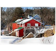 Winter at the Red Mill Poster