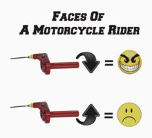 Faces of a Motorcycle Rider by bigredbubbles6