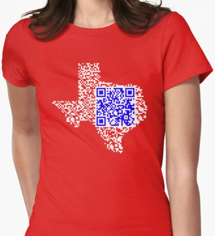 QR Texas Womens Fitted T-Shirt
