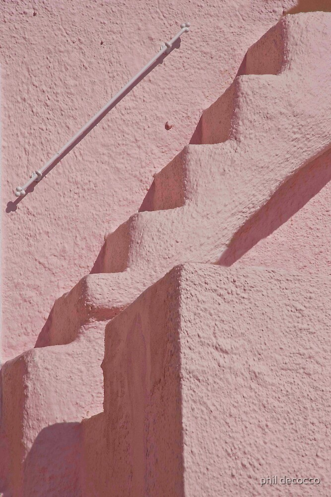 Pink Stairs And Facade by phil decocco